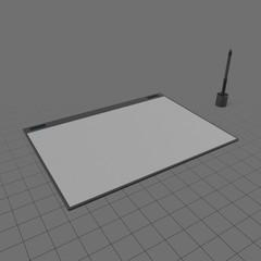 Pressure sensitive drawing tablet