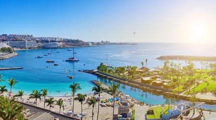 "Beach ""Anfi del Mar"" on Gran Canaria in December"