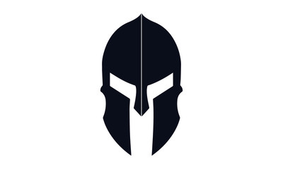 spartan helmet vector design black and white