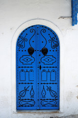 tradition mediterranean blue wooden door