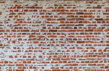 Old Weathered Red Bricks Wall Texture
