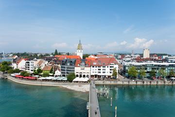 Bodensee, Friedrichshafen, Deutschland, Stadtpanorama
