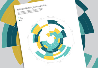 Nightingale Rose Infographic with Blue and Yellow Accents