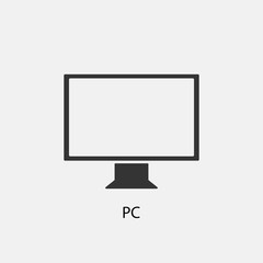 PC vector icon illustration sign