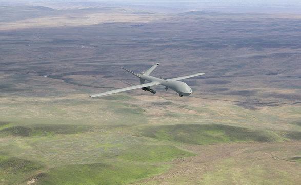 War drone 3d rendering, original photo background