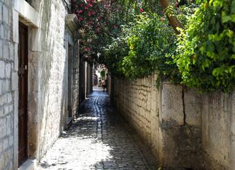 Croatia city ancient mediterranean architecture street view