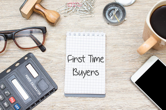 First Time Buyers Concept on notebook