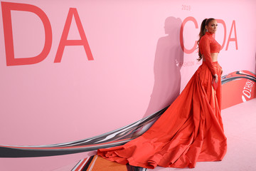 Actress and singer Jennifer Lopez attends the 2019 CFDA Awards where she will be receiving the Fashion Icon Award at The Brooklyn Museum in New York