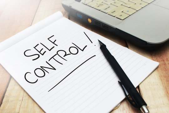 Self Control, Motivational Words Quotes Concept