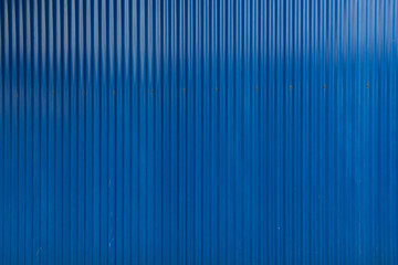 Blue corrugated iron material, building materials
