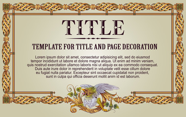 Template flyer, diploma, invitations or greeting cards.