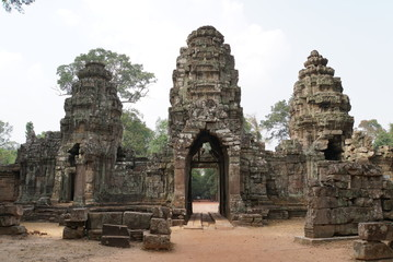 ancient temple gateway - cambodia