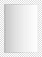 Layout of blank cover of a book, magazine or notebook lying