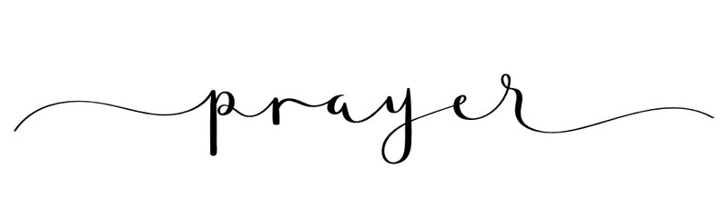 PRAYER black vector brush calligraphy banner
