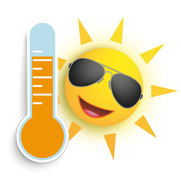 Sun Sunglasses Face Smiley Weather Icon