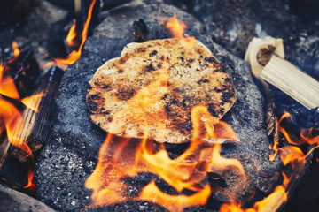 Brot auf Stein backen