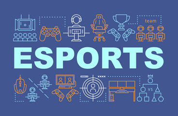 Esports word concepts banner
