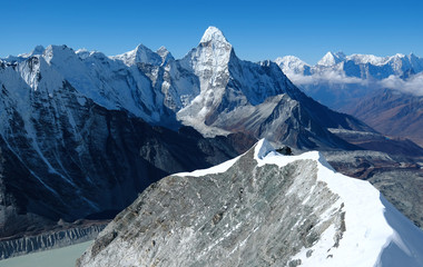 Wall Murals Nepal Ama Dablam in the Everest Region of the Himalayas, Nepal