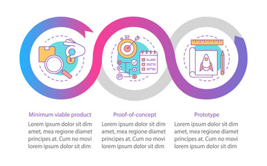 Startup testing vector infographic template