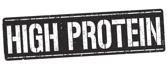 High protein sign or stamp