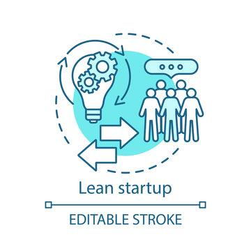Lean startup concept icon