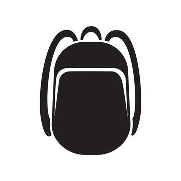 backpack icon monochrome silhouette. Knapsack. Schoolbag. Sack