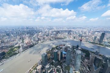 Fotobehang - shanghai cityscape in sunshine