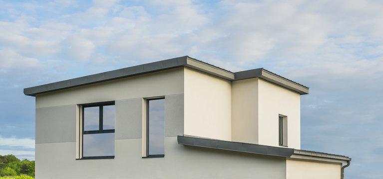 Modernes Einfamilienhaus mit Flachdach - Modern detached house with flat roof