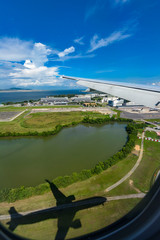 Aerial photography of Singapore airport