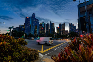 Singapore cityscape at Twilight