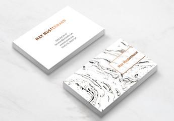 Vorlage für eine weiße marmorierte Visitenkarte