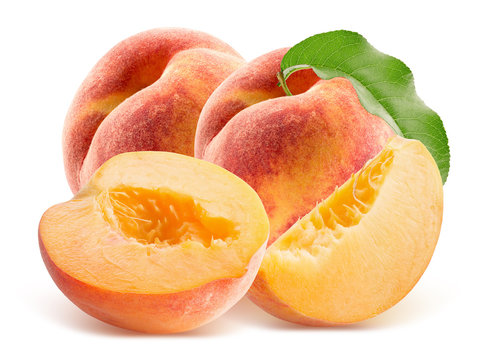 peaches isolated on a white background