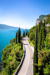 Fototapete - Gardesana Road near Limone sul Garda. Garda Lake, Lombardy, Italy