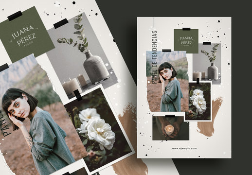 Maqueta de panel de tendencias de artesanía natural