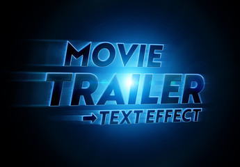 Glowing Movie Title Text Effect Mockup