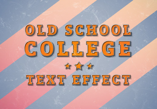 Distressed Text Effect with Multiple Backgrounds