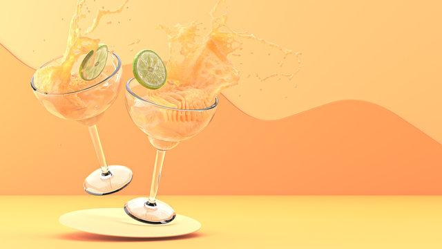 Dual Mango Alcoholic Beverages Colliding