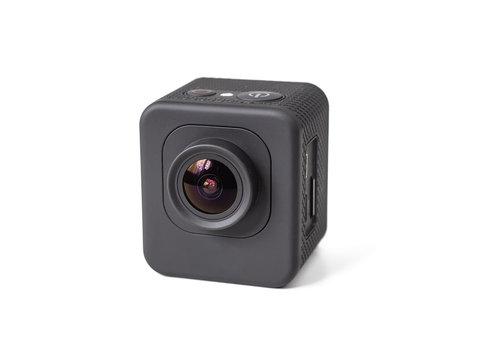 Black, plastic mini camera