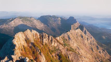 Panorama of Anboto mountain range