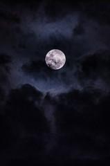 dark in full moon night