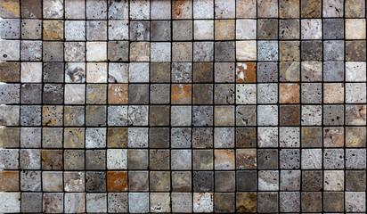 Travertine tile ceramic, mosaic square design seamless texture