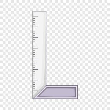 Setsquare icon. Cartoon illustration of setsquare vector icon for web design