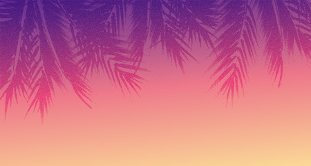 Abstract tropical sunset background