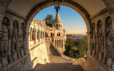 Fototapeten Budapest schöne Architektur der Fischerbastei