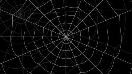 few cobwebs move against a black background