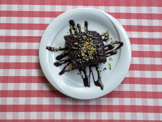 Turkish Traditional Trilece Dairy Dessert Cake
