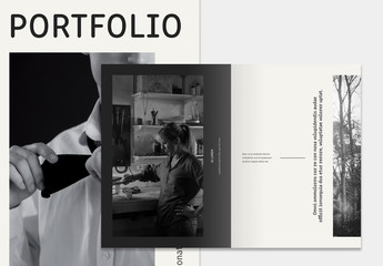 Portfolio Layout with Cream Accents