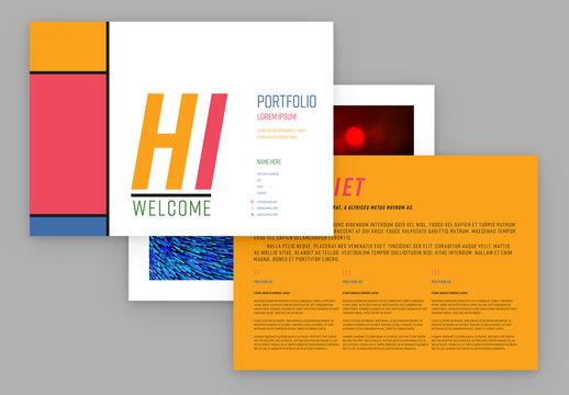 Color Blocked Portfolio Layout