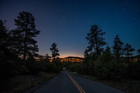 neighborhood road night
