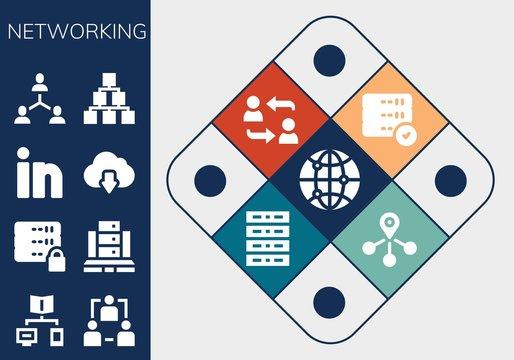 networking icon set